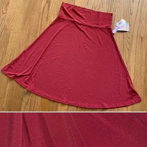 Lu La Roe Azure Swing Skirt Merlot / Wine L